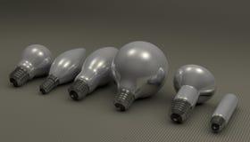 Various light bulbs Royalty Free Stock Photo