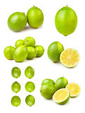 Various lime lemons groups Royalty Free Stock Photography