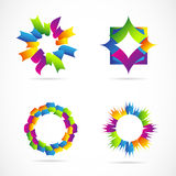Various logo elements Royalty Free Stock Image