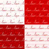 Various love pattern Royalty Free Stock Images
