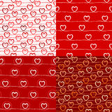 Various love pattern Stock Image