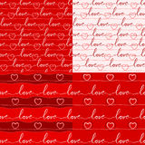 Various love pattern Royalty Free Stock Photography