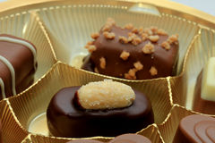 Various luxurious chocolates Royalty Free Stock Images