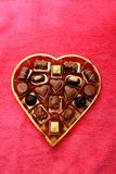 Various luxurious chocolates. Luxurious chocolates in a golden box Royalty Free Stock Images