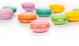 Various macaron cakes Royalty Free Stock Photo