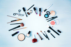 Various Make up and Beauty Products. Stock Images