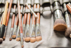 Various Make-up Brushes for the bride in Wedding Ceremony Royalty Free Stock Photography