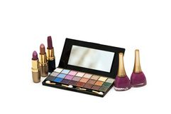 Various make-up isolated Royalty Free Stock Images