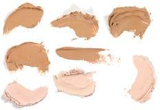 Various make up liquid powder strokes Stock Photography