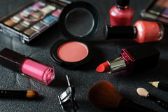 Various make-up products and cosmetics Stock Image