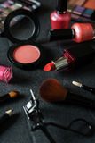 Various make-up products and cosmetics Royalty Free Stock Photo