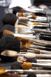 Various makeup brushes Stock Photo