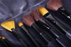 Various makeup brushes Stock Photography