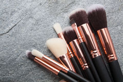 Various makeup brushes  Royalty Free Stock Photo