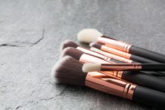 Various makeup brushes  Royalty Free Stock Photography