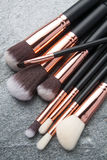 Various makeup brushes isolated Royalty Free Stock Images