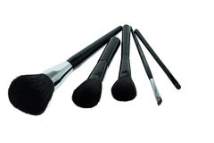 Various makeup brushes isolated on white background Royalty Free Stock Photos