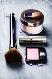 Various makeup products Stock Images
