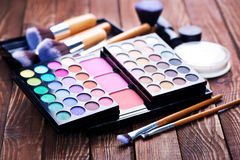 Various makeup products Royalty Free Stock Photos