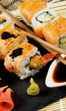 Various Maki Sushi Royalty Free Stock Photos