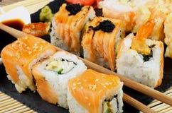 Various Maki Sushi Royalty Free Stock Photo