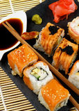 Various Maki Sushi Royalty Free Stock Images