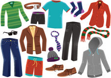 Various male clothing Royalty Free Stock Images