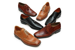 Various male shoes isolated on Royalty Free Stock Image