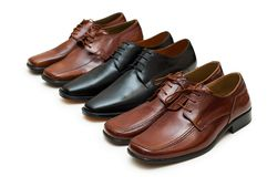 Various male shoes isolated Stock Photos