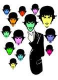 Various Man Face Style Stock Photos