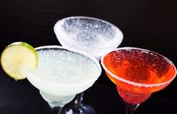 Various margarita cocktails Stock Photo