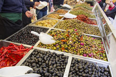 Various Marinated Olives Stock Image