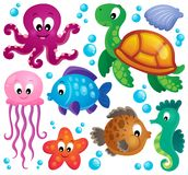 Various marine animals set 1 Royalty Free Stock Photo