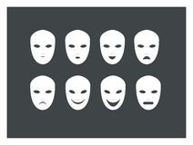 Various mask expression Royalty Free Stock Image