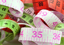 Various measuring tape Royalty Free Stock Photography