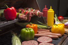 Various Meats ready for Grill-2 Royalty Free Stock Photography