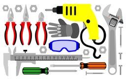 Various mechanical equipment royalty free illustration