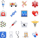 Various medical icons Royalty Free Stock Photography