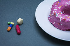 Various medicines to combat diabetes Stock Photography