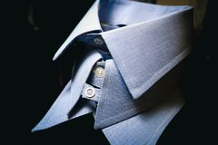Various Mens Blue Shirt Collars Suit Fashion French