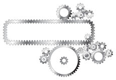 Various metal cogwheels Stock Photos