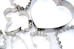 Various metal cookie cutters Stock Images