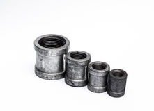 Various metal fittings Stock Images