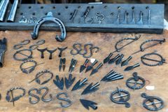 Various metal objects royalty free stock image