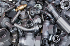 Various metal parts Stock Images