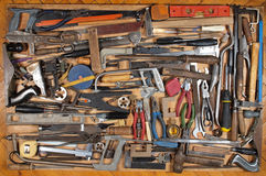 Various metalwork and carpentry tools Stock Image