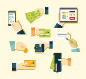 Various Methods of Payment vector illustration