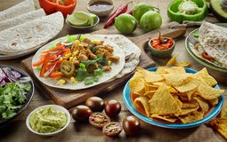 Various Mexican food ingredients Stock Photo
