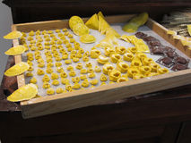 Various mix of fresh italian homemade pasta Royalty Free Stock Photos