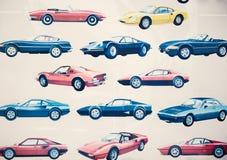 Various models of cars. Photo of various models of cars royalty free stock photos